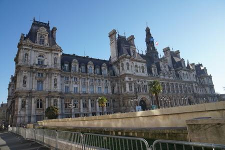 ville: Hotel de Ville, Paris City Hall, from Rivoli street