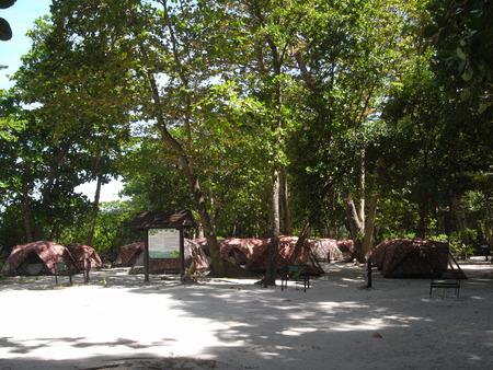 또한 Similan 국립 공원에서 숙박을위한 텐트