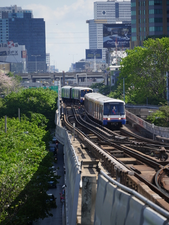 Bangkok, Thailand-April 12, 2017: trains at Mo Chit station