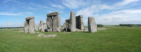 Panoramic view of Stonehenge, the prehistoric monument