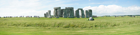Panoramic view of Stonehenge, the prehistoric monument