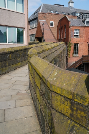 chester: Chester city wall Stock Photo