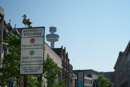 Signpost at Lord street in Liverpool