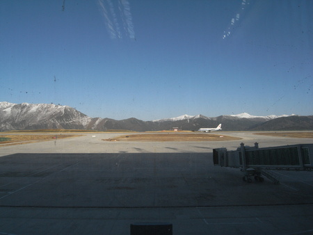 Sichuan, China-April 13, 2008: Jiuzhai Huanglong Airport Editorial