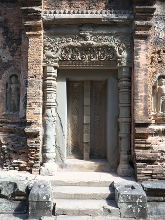 Siem Reap, Cambodia-December 24, 2017: Preah Ko was built in 879. It is known for the beauty and intricacy of its carvings. Editorial