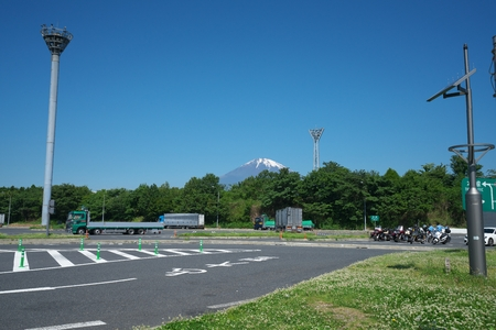 Tokyo, Japan-June 3, 2018: Tomei Expressway Ashigara Rest Area. We can enjoy a view of Mt. Fuji from this site on a fine day. Editorial