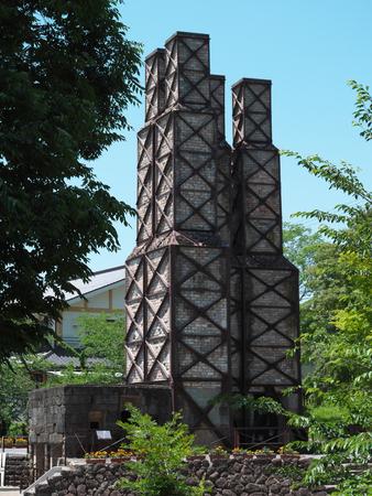 Shizuoka, Japan-June 3, 2018: World Heritage Sites of Japans Meiji Industrial Revolution: Nirayama Reverberatory Furnaces