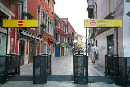 Venice, Italy-July 25, 2018: Early morning scene of Rio Tera Lista di Spagna near Santa Lucia station, Venice