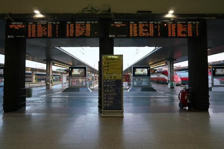 Venice, Italy-July 25, 2018: Venice Santa Lucia Train Station Editorial