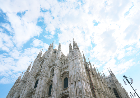 Milan, Italy-July 24, 2018: Milan Cathedral or Duomo di Milano