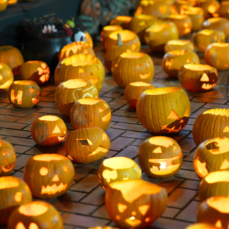 Halloween decoration, Jack-o '-lanterns, displayed in Japan