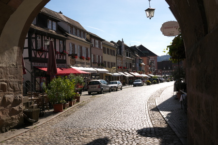 Gengenbach, Germany-October 12, 2018: Gengenbach is a town in Black Forest in Germany. Thanks to wooden frame houses, it is sometimes called as Nice in Baden or romantic jewelry town.