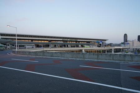 Narita, Japan-January 8, 2019: Narita International Airport Terminal 1 Third Floor Bus stops early in the morning