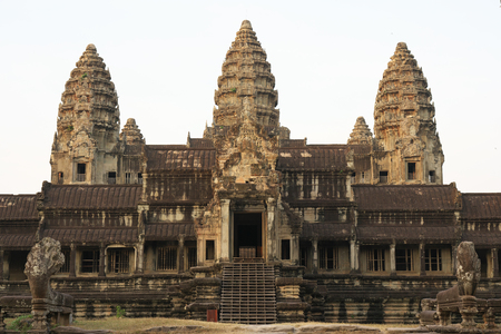 Siem Reap, Cambodia-January 11, 2019: Angkor Wat South Gallery in Siem Reap, Cambodia. Editorial