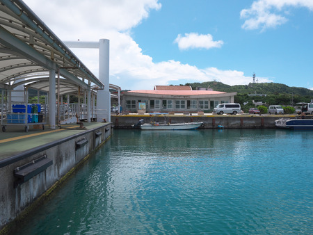 Okinawa, Japan-May 31, 2019: Uehara Port in Iriomote Island, Okinawa
