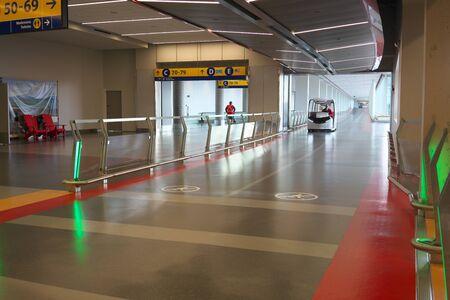Calgary, Canada-September 2, 2019: Concourse C of Calgary International Airport, Canada Editorial