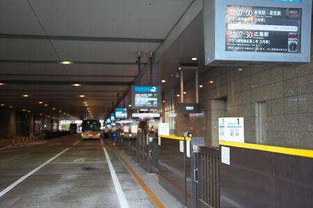 Osaka, Japan-September 29, 2019: JR Osaka Station Expressway bus terminal in the morning