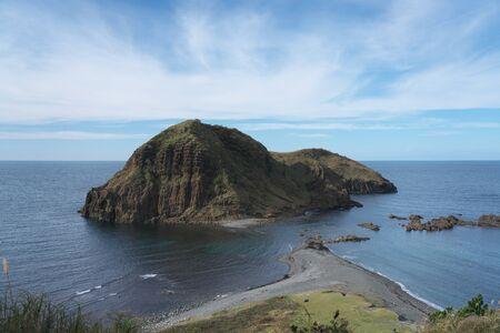 Niigata,Japan-October 20, 2019: Futatsugame island or two turtles island in Sado island.