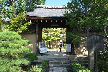 京都,2019年9月26日:京都大徳寺大泉寺大泉寺の大瀬内の正門 報道画像