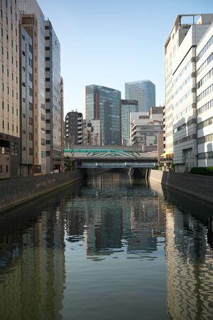 Tokyo,Japan-November 1, 2019: Kanda River Flowing at the South of Akihabara Station Viewed from Sakuma Bridge 写真素材 - 133264468