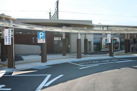 Yamanashi,Japan-November 2, 2019: North entrance of JR Shiozaki Station Editorial