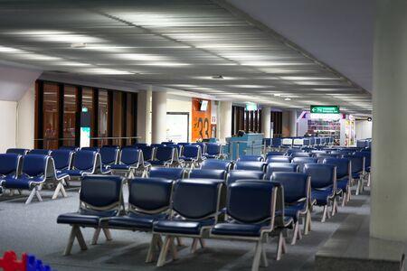 Bangkok,Thailand-December 8, 2019: International Terminal for Departure at Don Mueang International Airport in the Midnigh t in Bangkok 写真素材 - 135669603