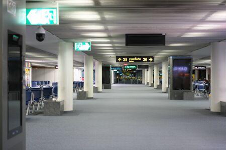 Bangkok,Thailand-December 8, 2019: International Terminal for Departure at Don Mueang International Airport in the Midnigh t in Bangkok 写真素材 - 135669605