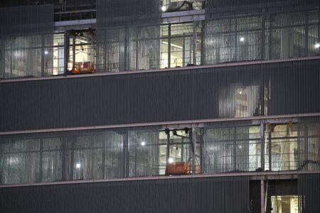 Tokyo,Japan-December 19, 2019: Interior finish work of tall building in Tokyo 写真素材
