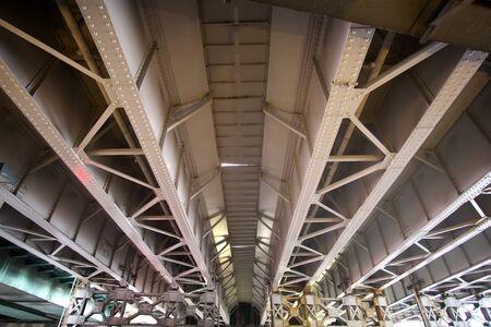 Tokyo,Japan-December 19, 2019: Girder or viaduct of railroad at Akihabara station, Tokyo 写真素材 - 136075695