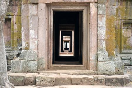 Buriram,Thailand-December 8, 2019: Shiva Linga in Phanom Rung, Buriram's Khmer temple on volcano, in Thailand 写真素材 - 136063789