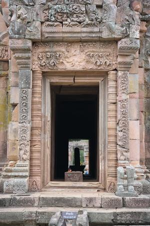 Buriram,Thailand-December 8, 2019: Shiva Lingam in Phanom Rung, Burirams Khmer temple on volcano, in Thailand