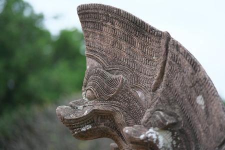 Buriram,Thailand-December 8, 2019: Closeup of Naga at Phanom Rung, Buriram's Khmer temple on volcano, in Thailand 写真素材 - 136063798