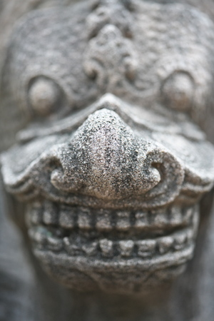 Buriram,Thailand-December 8, 2019: Closeup of Naga at Phanom Rung, Burirams Khmer temple on volcano, in Thailand