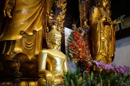 Shanghai,China-September 16, 2019: Buddha statue at Longhua temple in Shanghai, China 写真素材 - 136266993