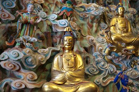 Shanghai,China-September 16, 2019: Buddha statue at Longhua temple in Shanghai, China 写真素材 - 136266995