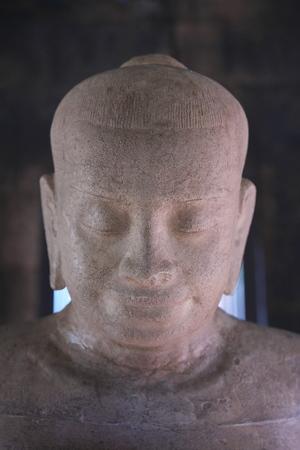 Nakhon Ratchasima,Thailand-December 8, 2019: Buddha Statue or Image at Phaimai Historical Park in Buriram, Thailand 報道画像