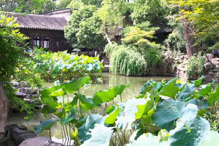 Suzhou,China-September 14, 2019: LiuYuan garden or Lingering garden,   in Suzhou, China 写真素材 - 136267006