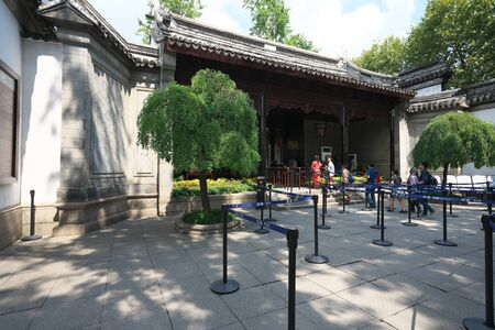 Suzhou,China-September 17, 2019: Entrance of Lion Forest Garden in Suzhou, China 報道画像