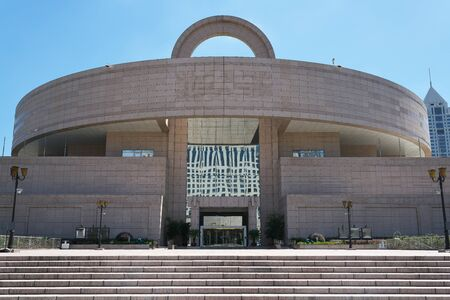 Shanghai,China-September 18, 2019: Shanghai Museum at Peoples square in Shanghai, China