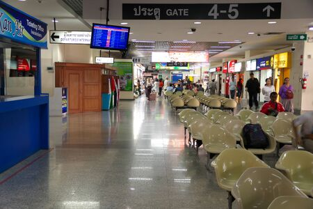 Udon Thani,Thailand-January 24, 2020: Udon Thani International Airport Lobby