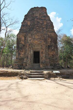 Kampong Thom, Cambodia-January 25, 2020: Sambor Prei Kuk or Prasat Yeah Puon S1 in Kampong Thom, Cambodia