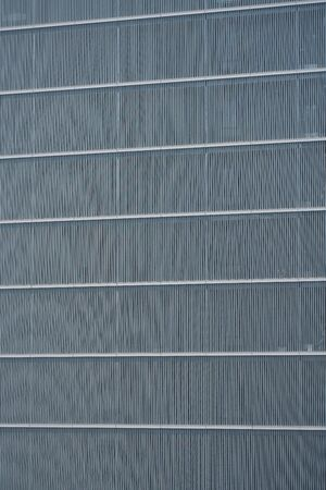 Tokyo, Japan-April 10, 2020: Building Exterior Louver or Parallel Slats in Tokyo