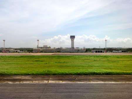 Okinawa,Japan-June 19, 2020: Miyako Shimojishima Airport Runway, Tarmac and Apron