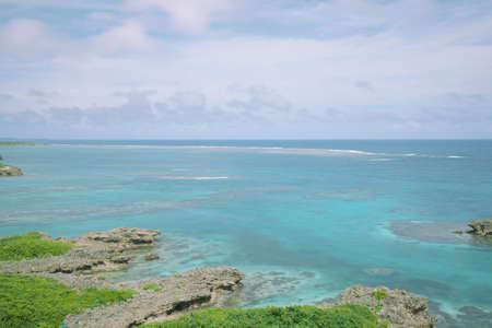 Beautiful coral reef at Miyako island, Okinawa, Japan