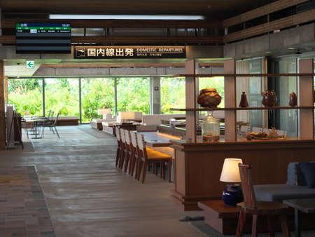 Okinawa,Japan-June 23, 2020: Waiting area for depature of Miyako Shimojishima Airport in Okinawa, Japan