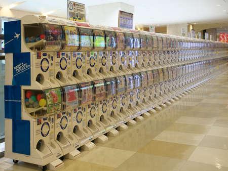 Tokyo,Japan-June 18, 2020: Capsule Toy Vending Machines at Narita International Airport