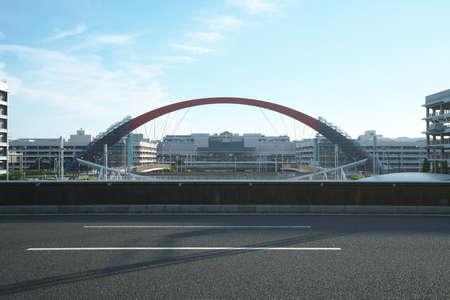 Tokyo,Japan-June 23, 2020: A cable-stayed bridge bridge connecting Terminal 1 and Terminal 2 at Haneda International Airport