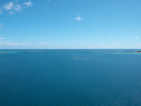 Irabu bridge from parasailing viewpoint at Miyakojima island