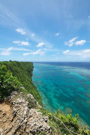 Okinawa,Japan-July, 2020: View from triangulation station in Irabu island, Okinawa Banco de Imagens