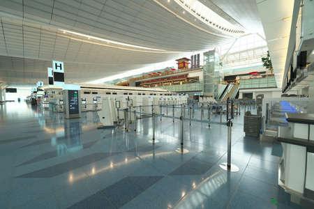 Tokyo,Japan-July 14, 2020: Vacant Haneda International Airport Terminal 3 Departure Floor